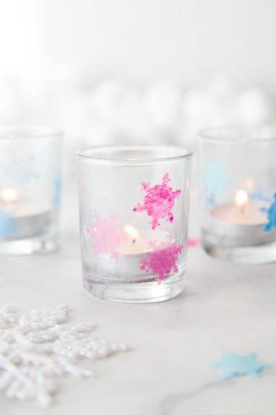 Tissue Paper Snowflake Luminaries