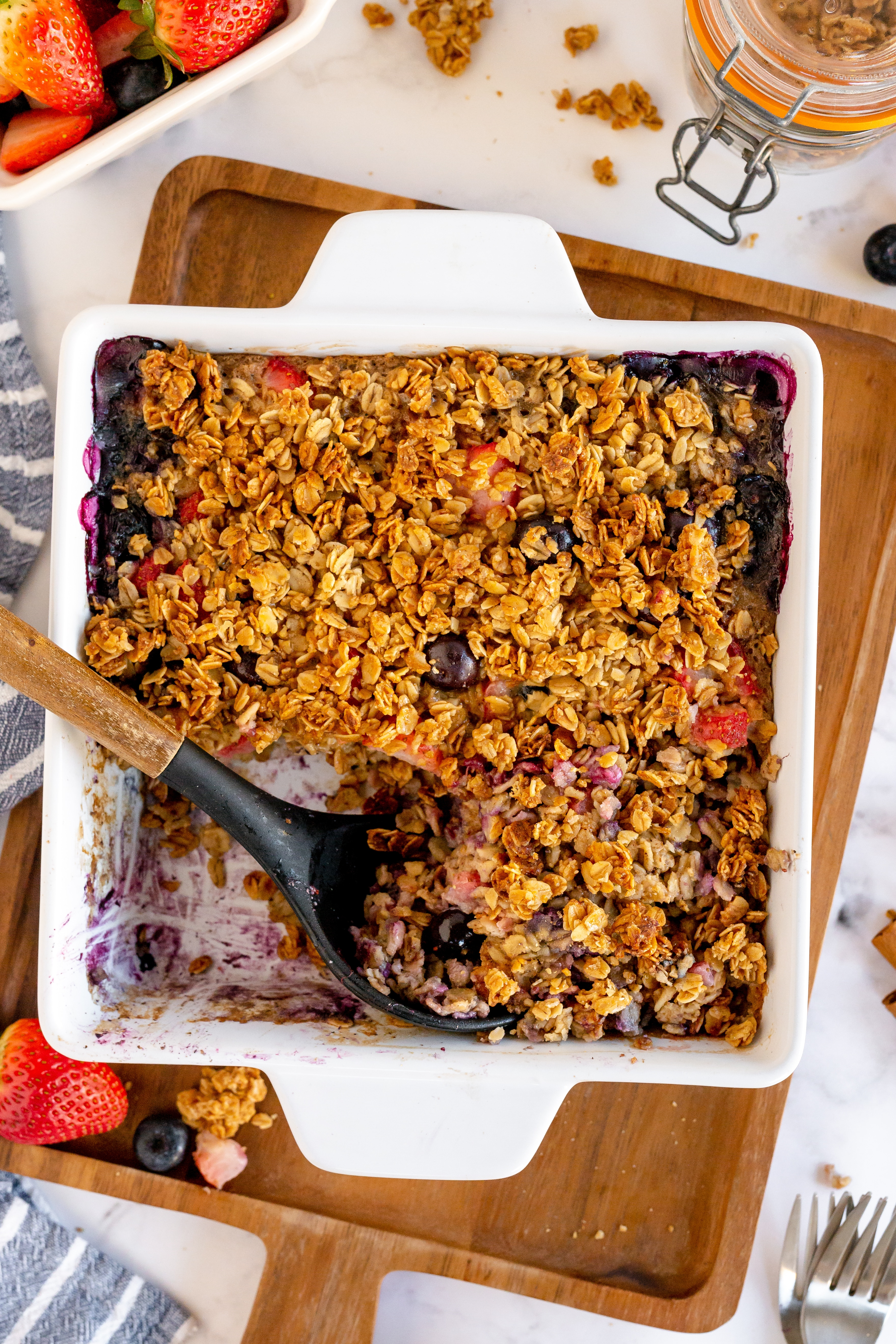 baked oatmeal in pan