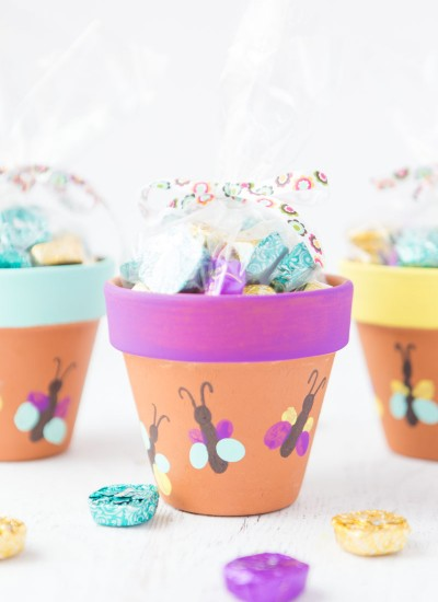 Thumbprint Butterfly Flower Pots