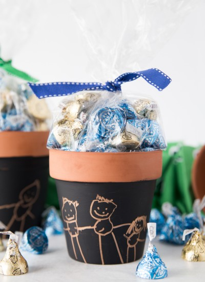 Fathers Day Kids Art Candy Pot