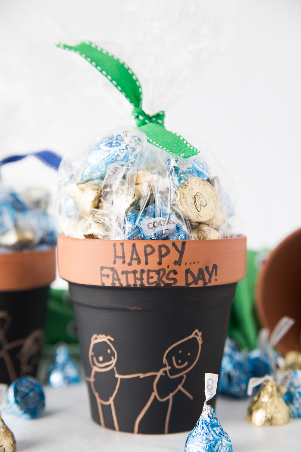 Fathers Day Candy Pot Filled with Candy