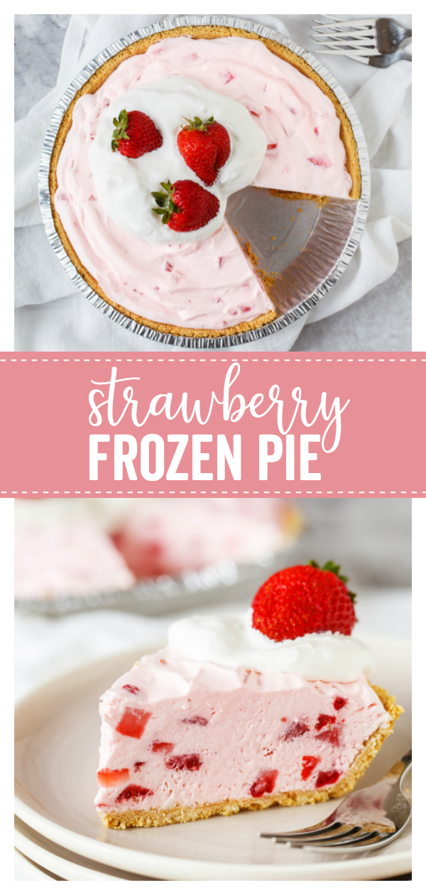 Strawberry Frozen Pie Slice