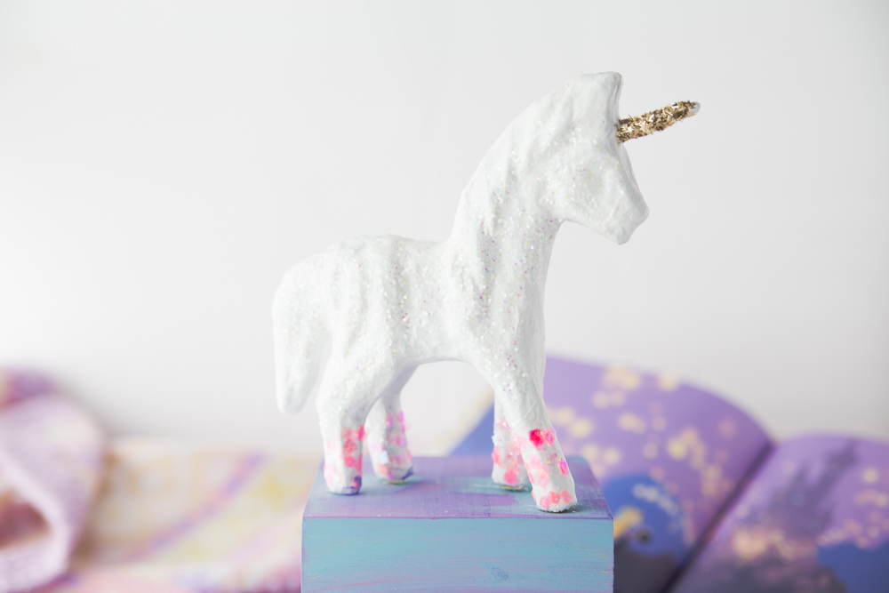 Finished Diy Unicorn Bookend