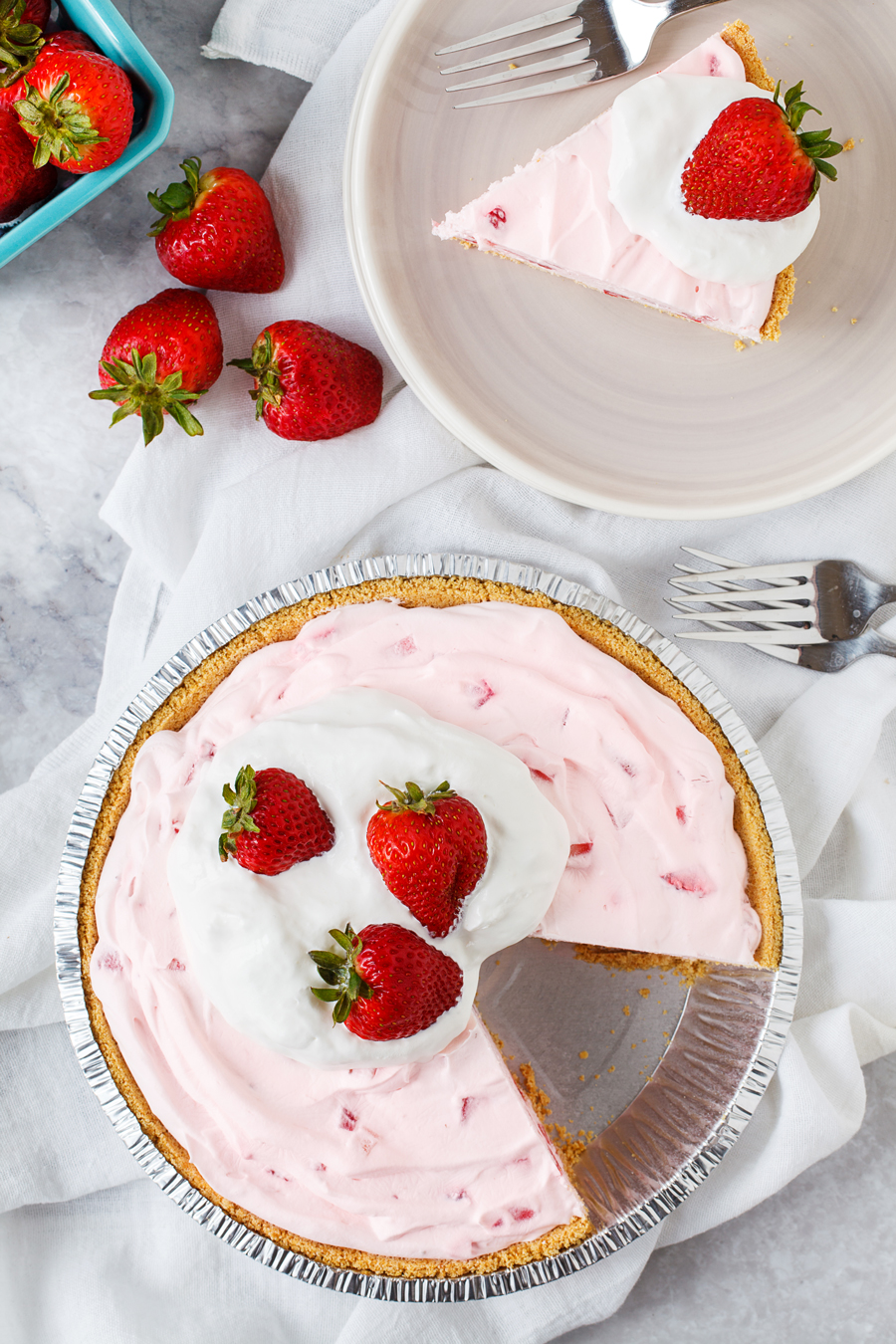 Frozen Strawberry Pie Ingredients