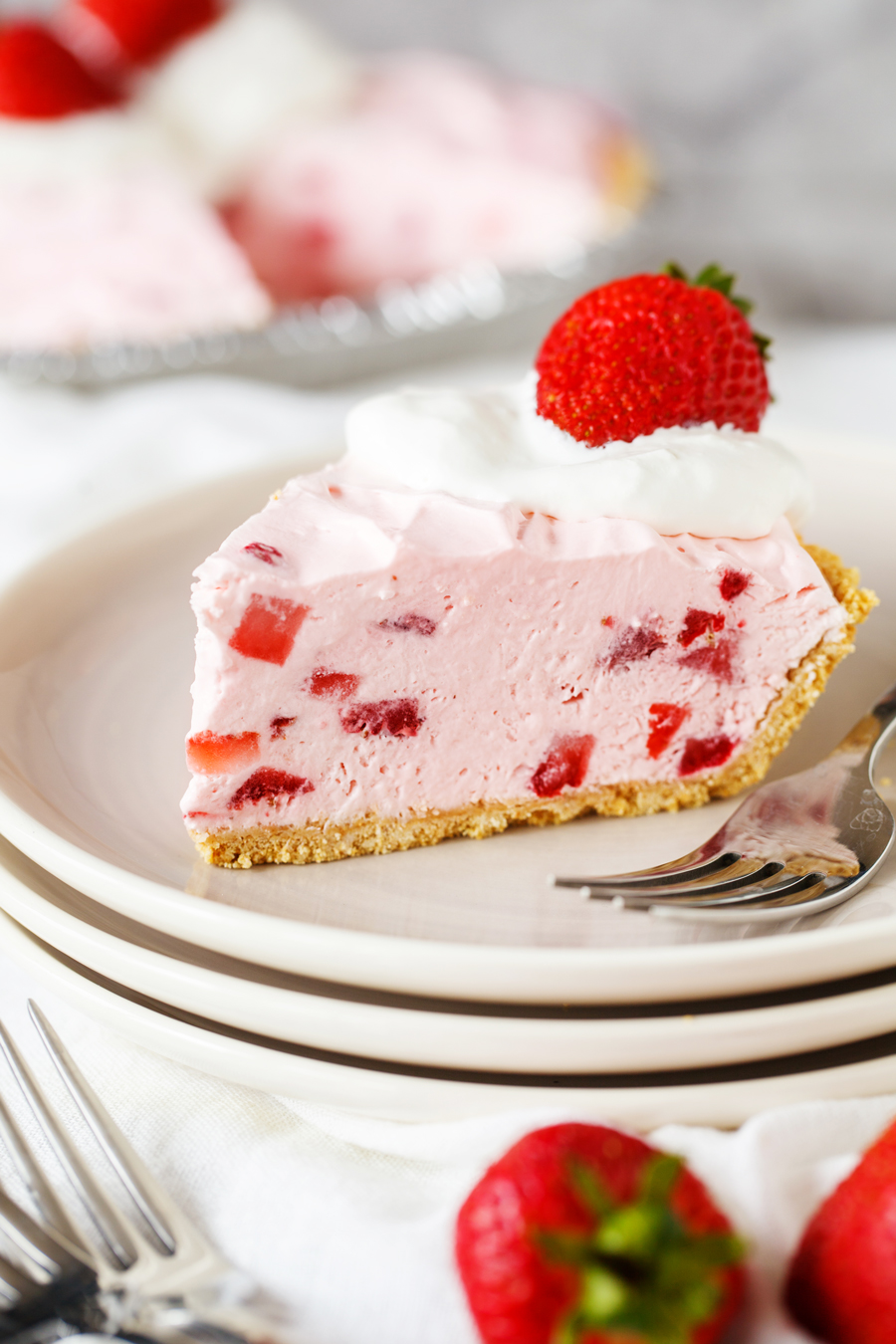 Fresh Frozen Strawberry Pie Slice