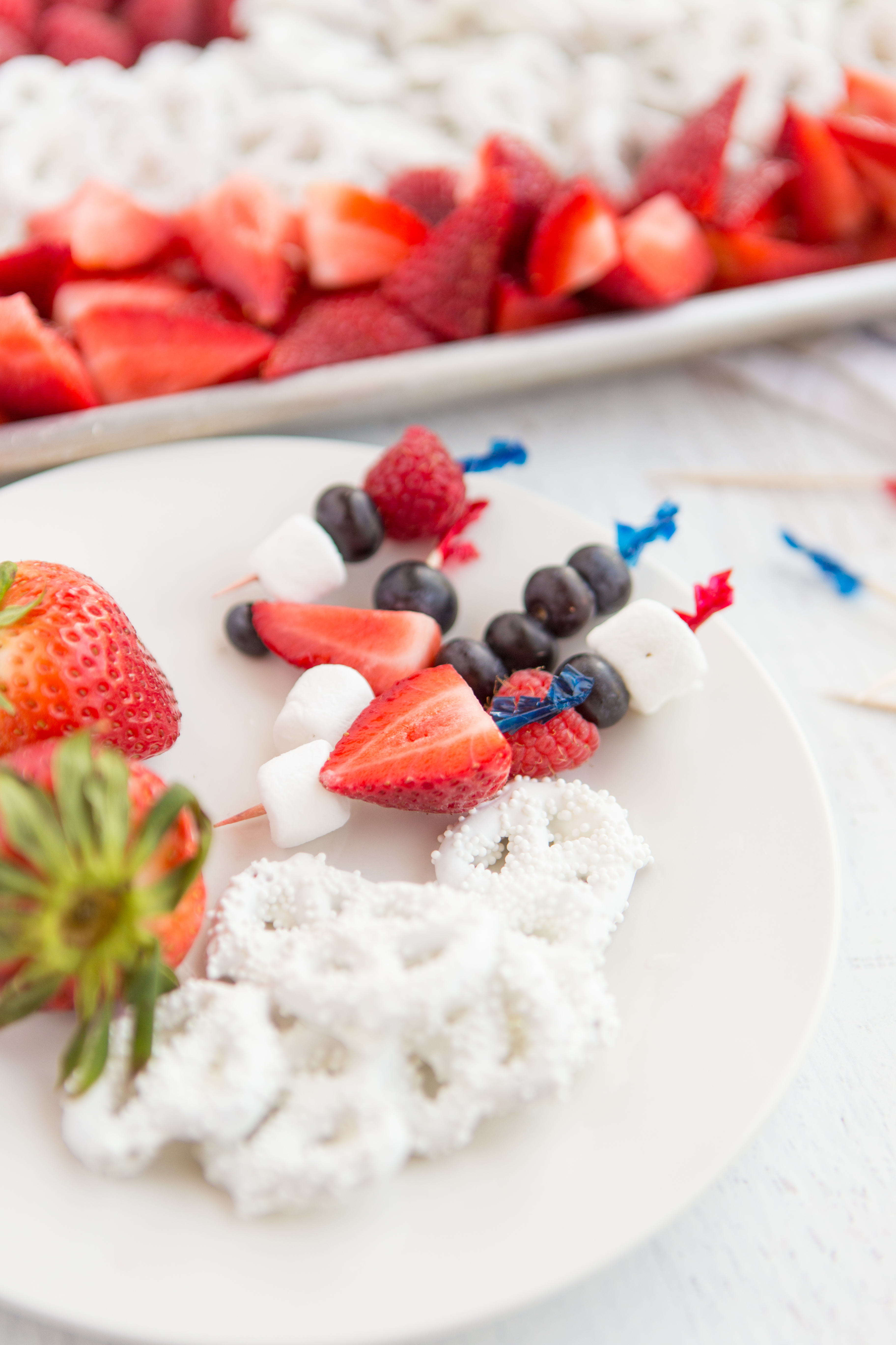 Fourth of July Toothpick skewers