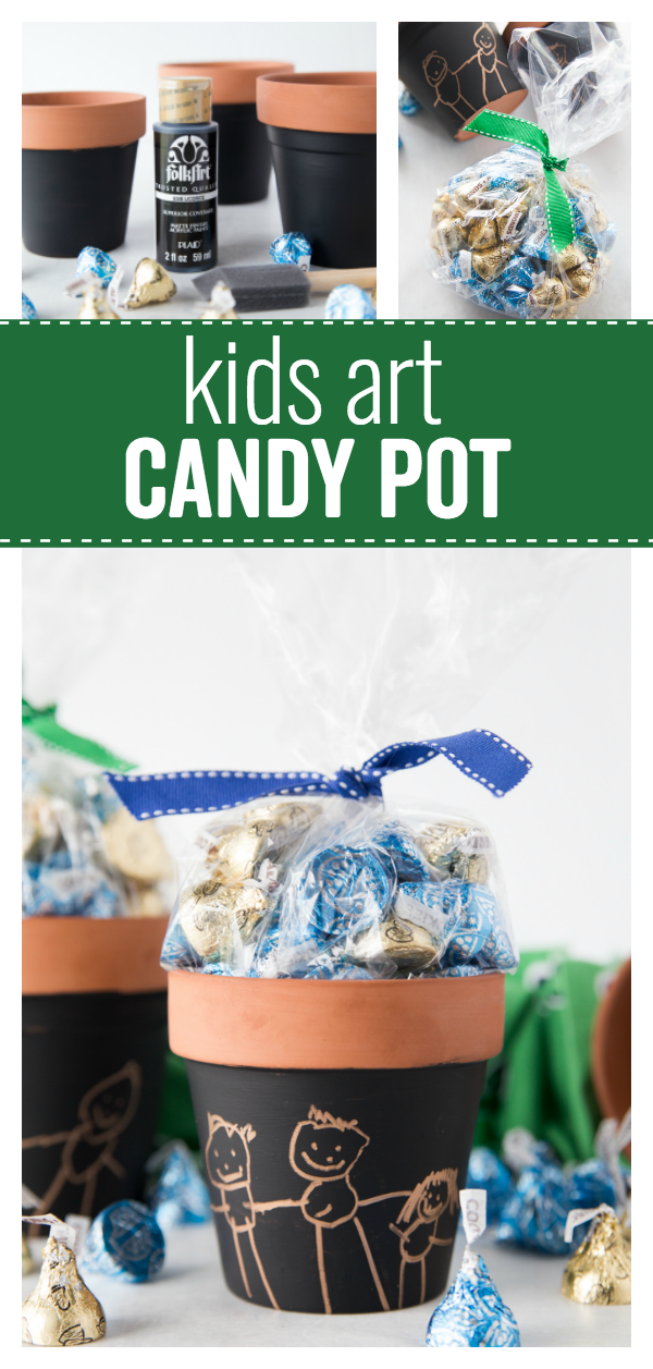 Kids Art Candy Pot