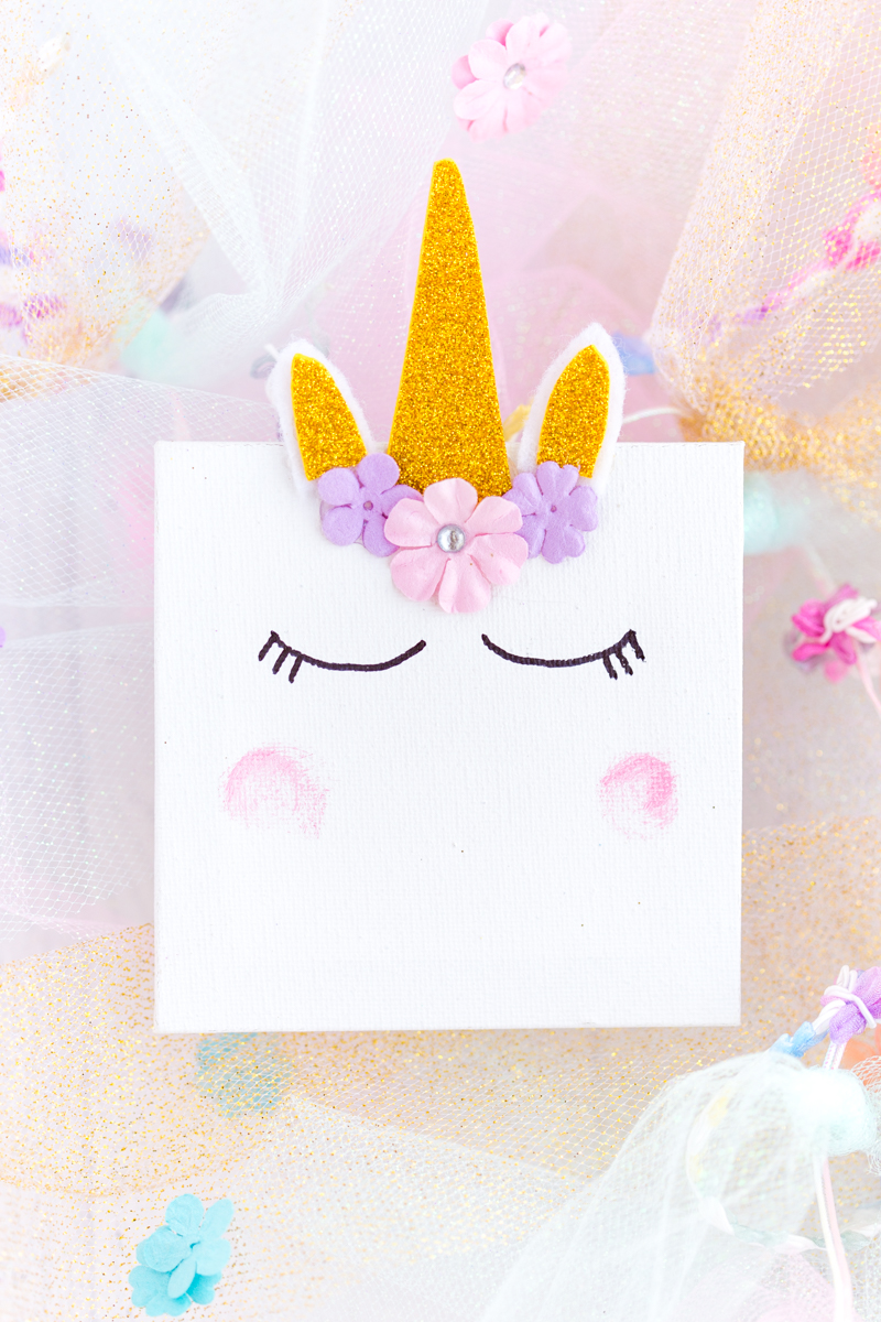 Mini Unicorn Canvas
