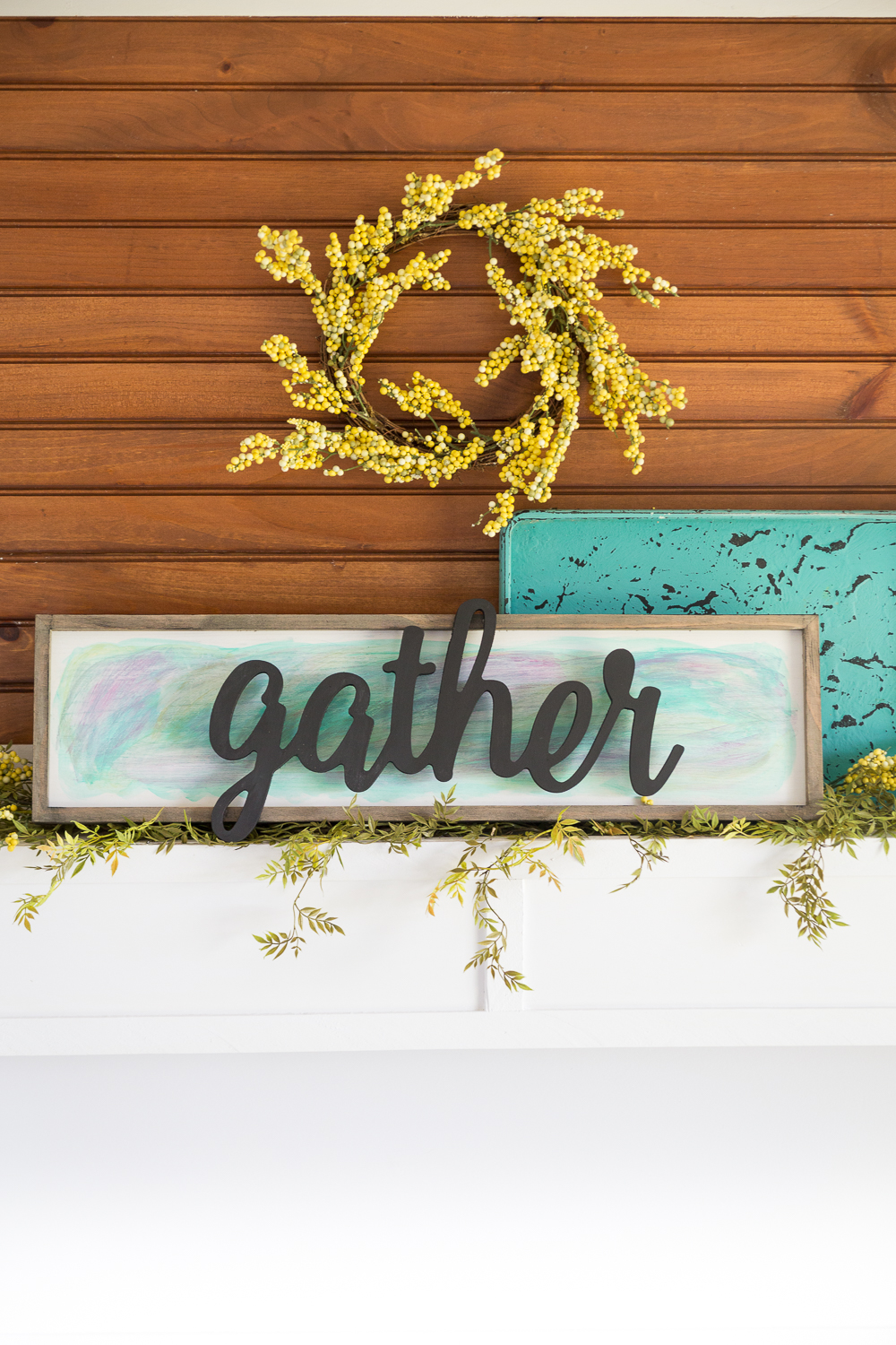 Watercolor Home Decor Sign