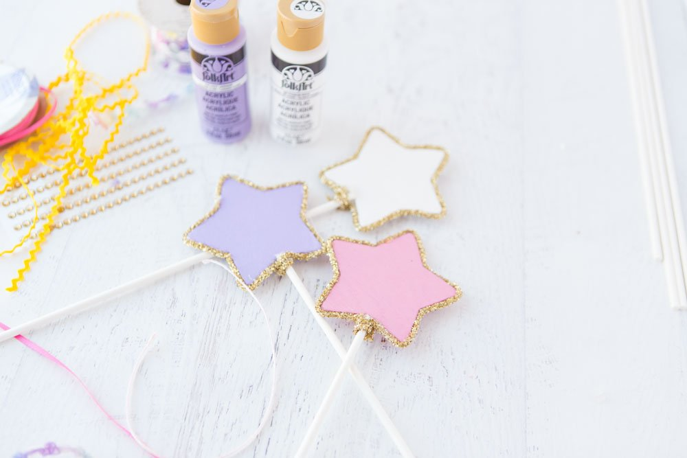 princess wand painted stars