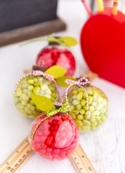 Candy Filled Apple Ornaments