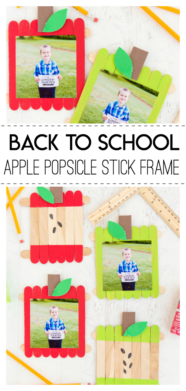Back to School Apple Popsicle Stick Frame