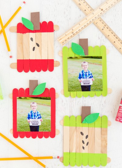 Apple Popsicle Stick Frame