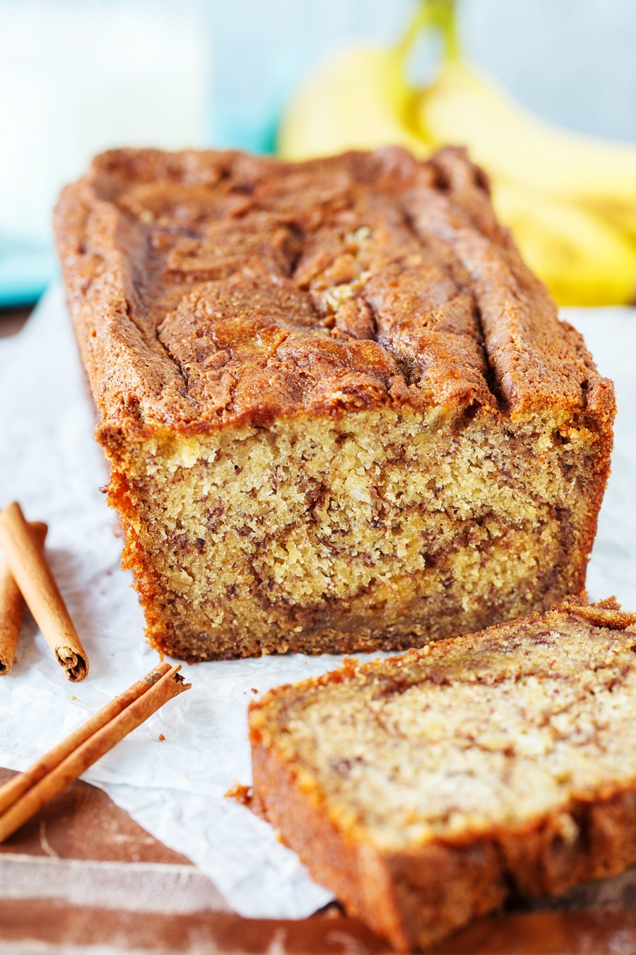 Cinnamon Swirl Banana Bread Loaf