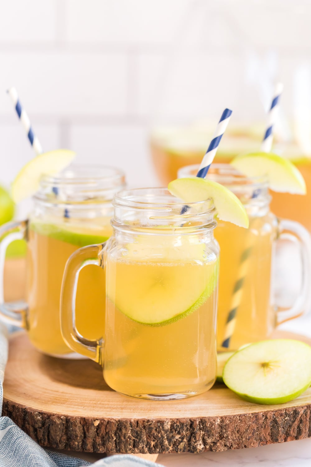 Apple Punch Recipe Served in mason jars