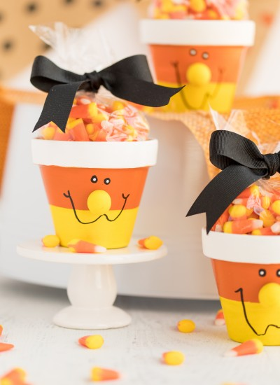 Candy Corn Candy Pots