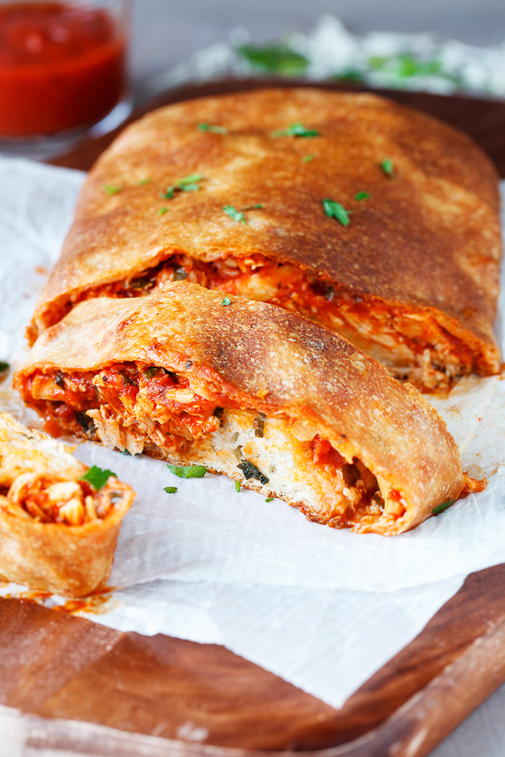 Chicken Parmesan Stromboli Slices