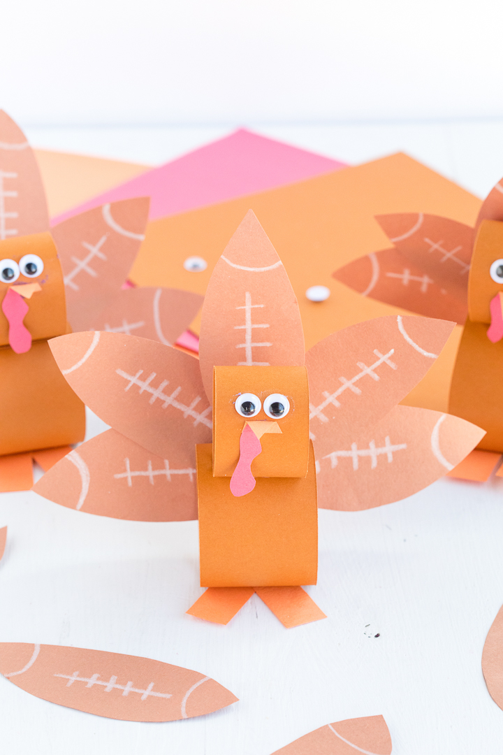 Football Turkey Paper Kids Craft