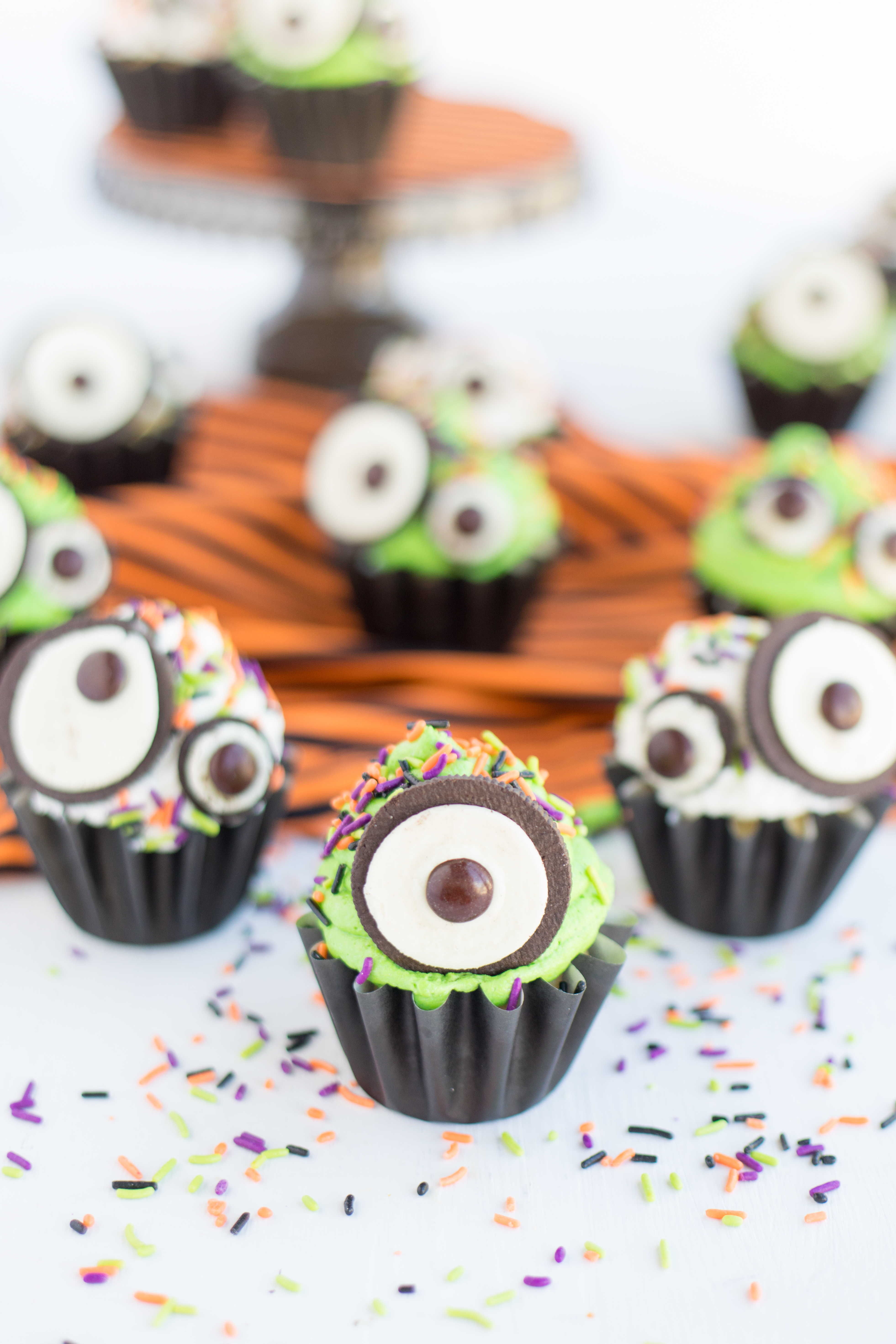 Monster Eye Cupcakes Green Icing