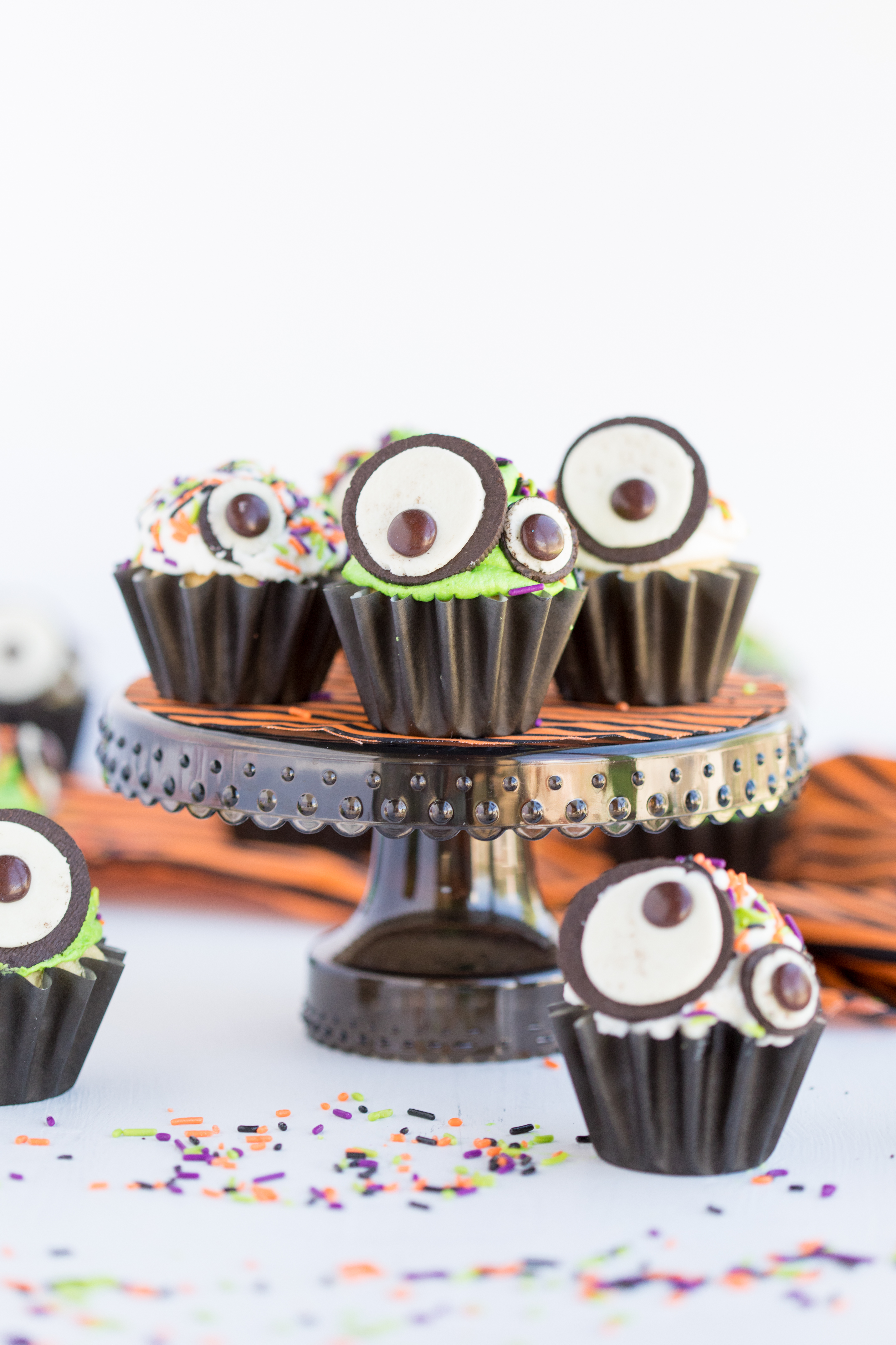 Monster Eye Cupcakes Displayed
