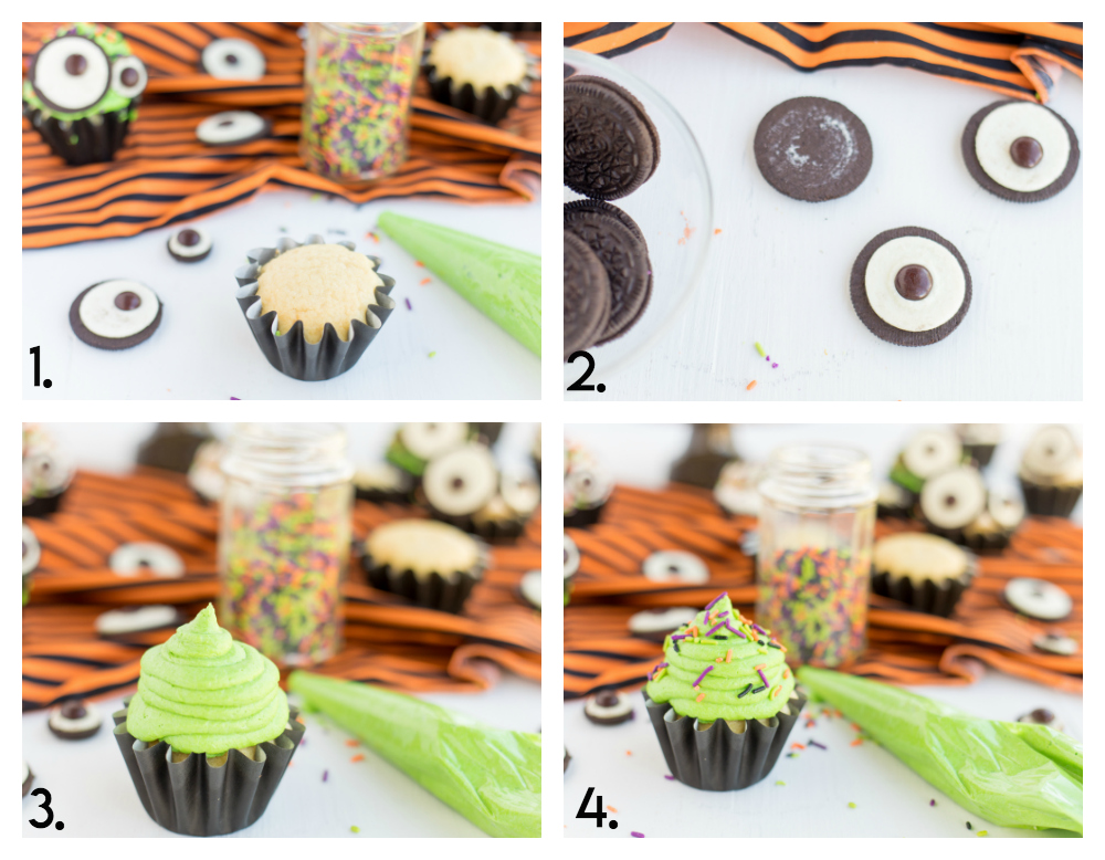 Monster Eye Cupcake Step By Step