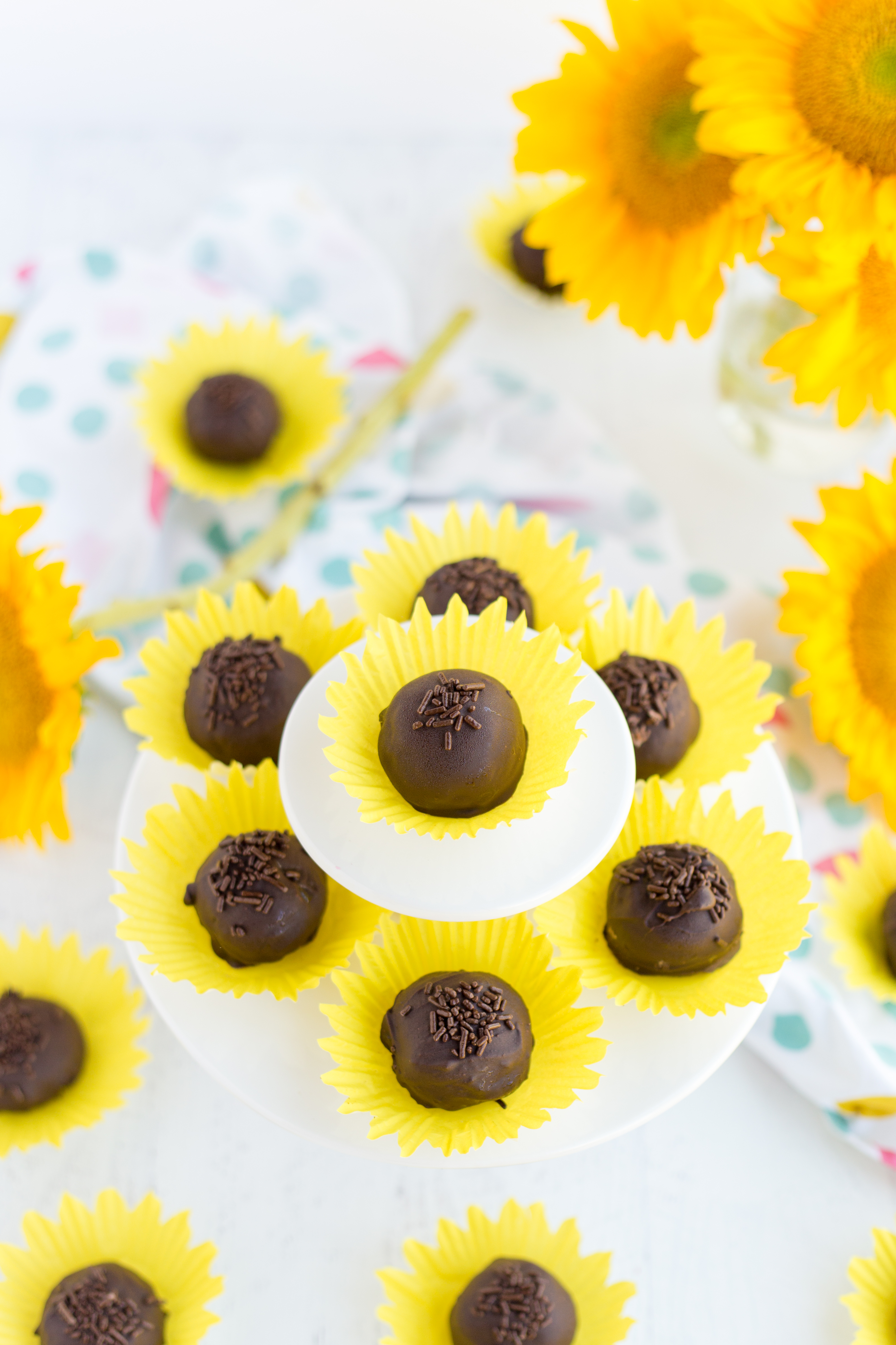 Bon Bons in Sunflower Cupcake Liners
