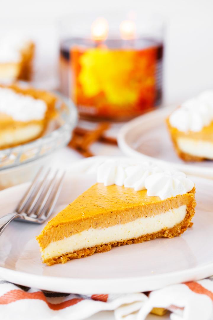 Easy Pumpkin Cheesecake Recipe Slice