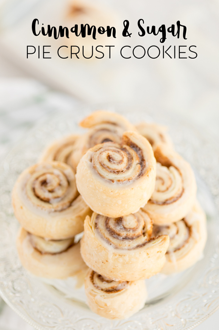 Cinnamon Sugar Pie Crust Cookies- delicious and simple cookies made with leftover pie crust and topped with cinnamon and sugar.