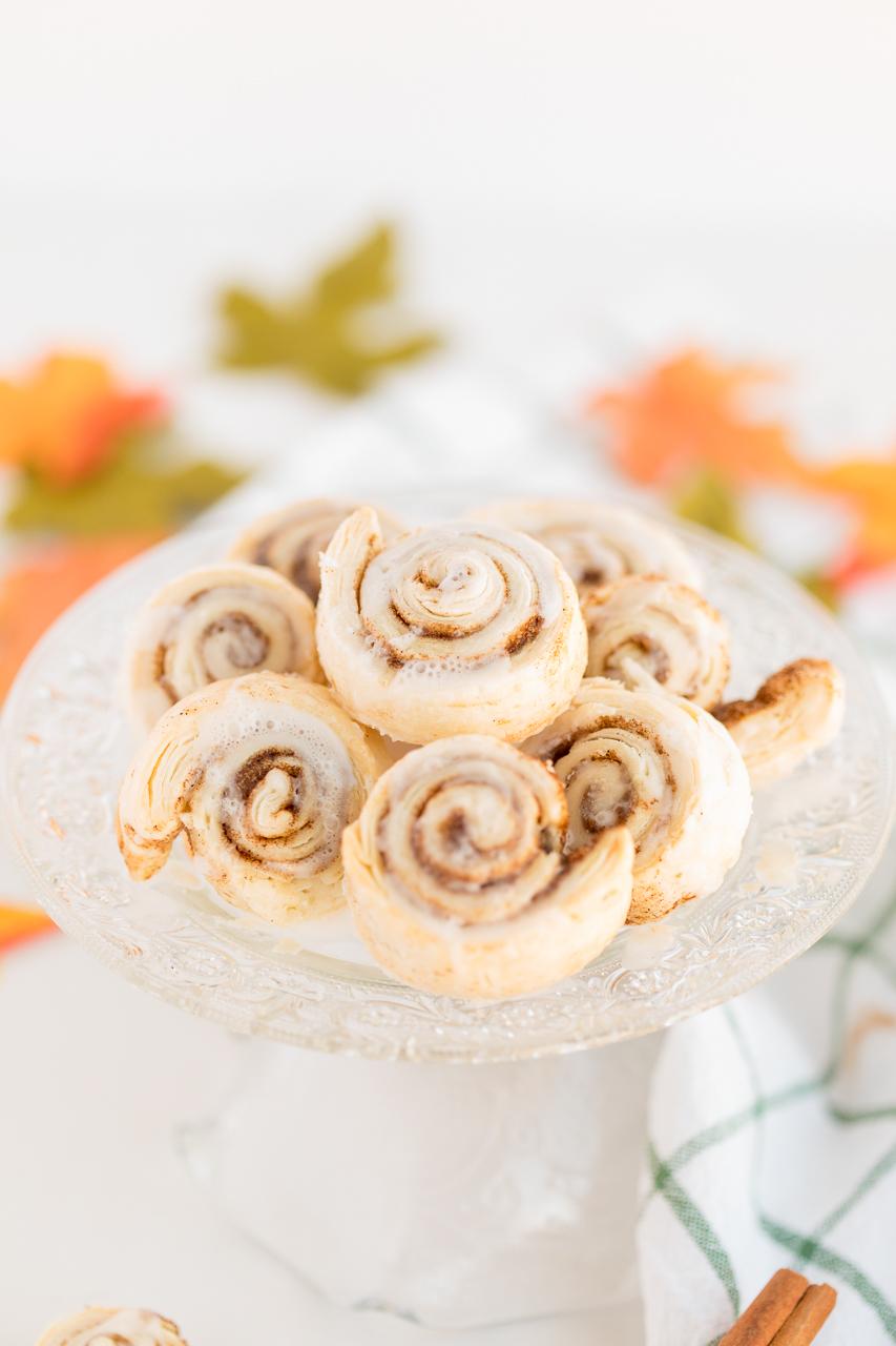 Cinnamon Sugar Pie Crust Cookies on Cookie Plate