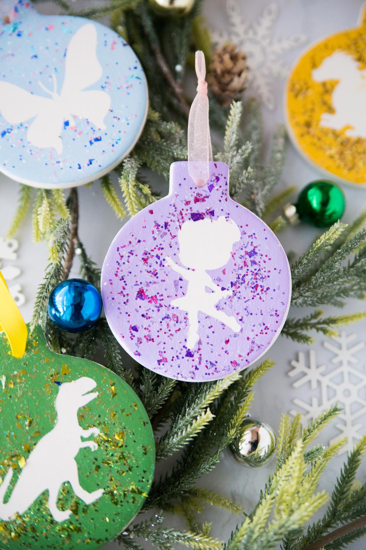 Glitter Silhouette Ornaments
