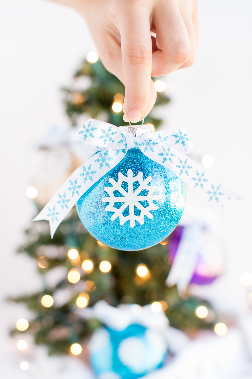 Vinyl Glitter Ornaments