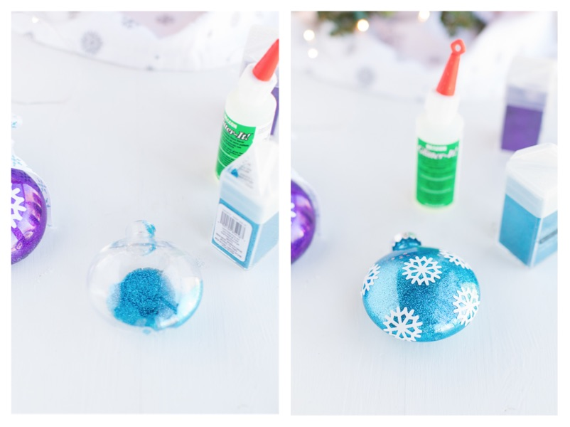 glitter ornaments using Glitter-It!