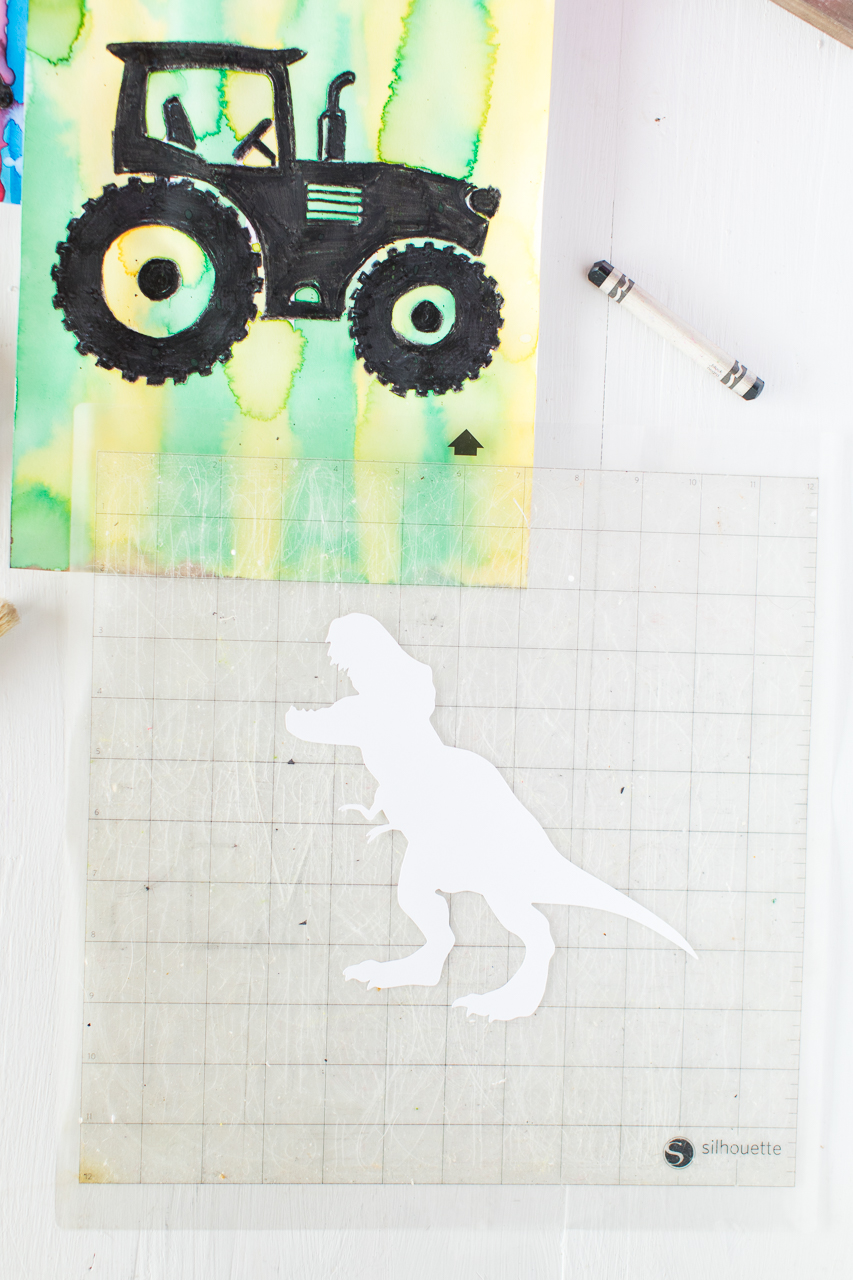 Black Crayon Watercolor Silhouette Instructions