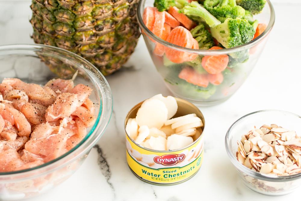 Chicken Almond Stir Fry Ingredients
