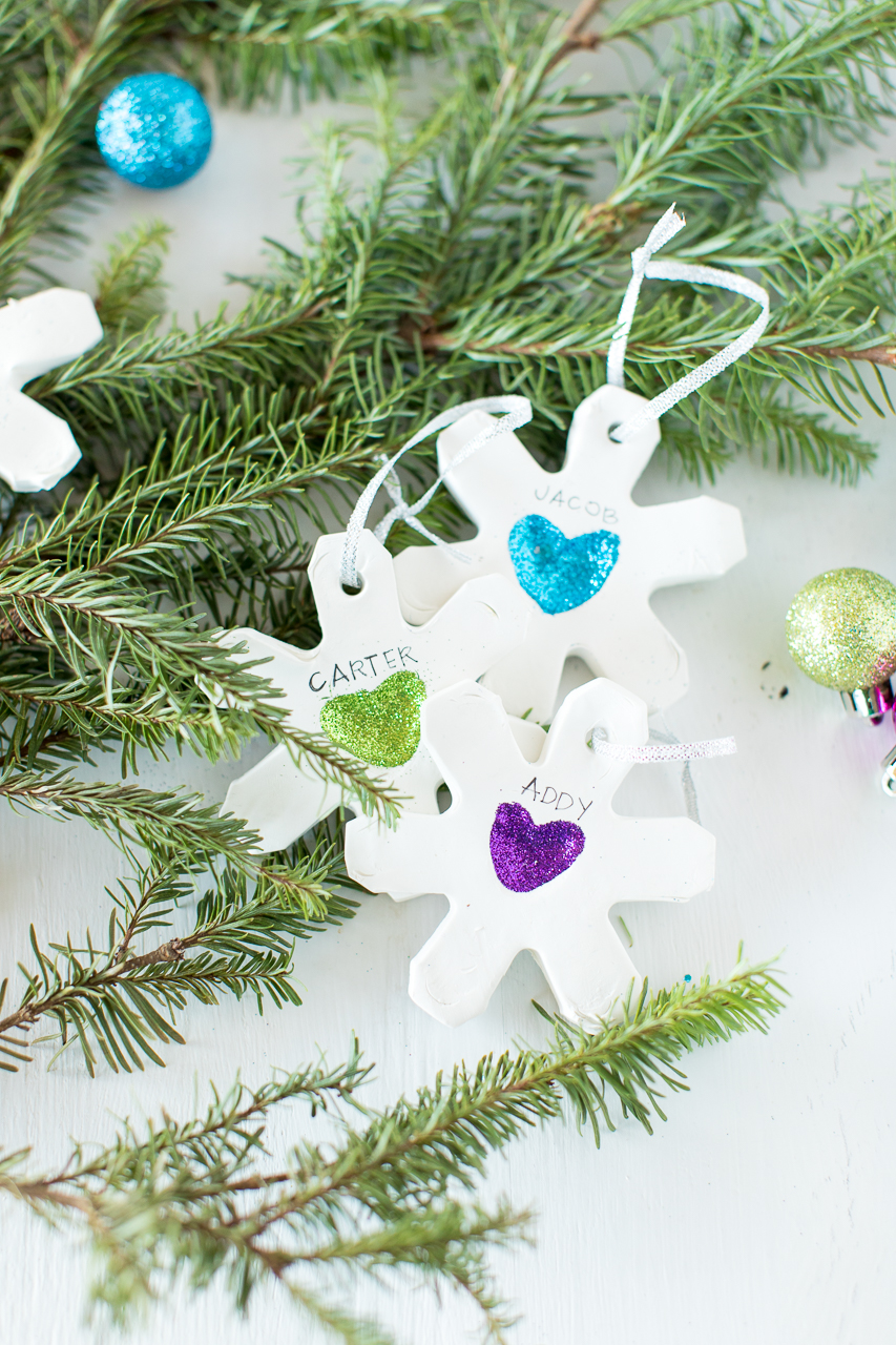 Snowflake Clay Ornaments