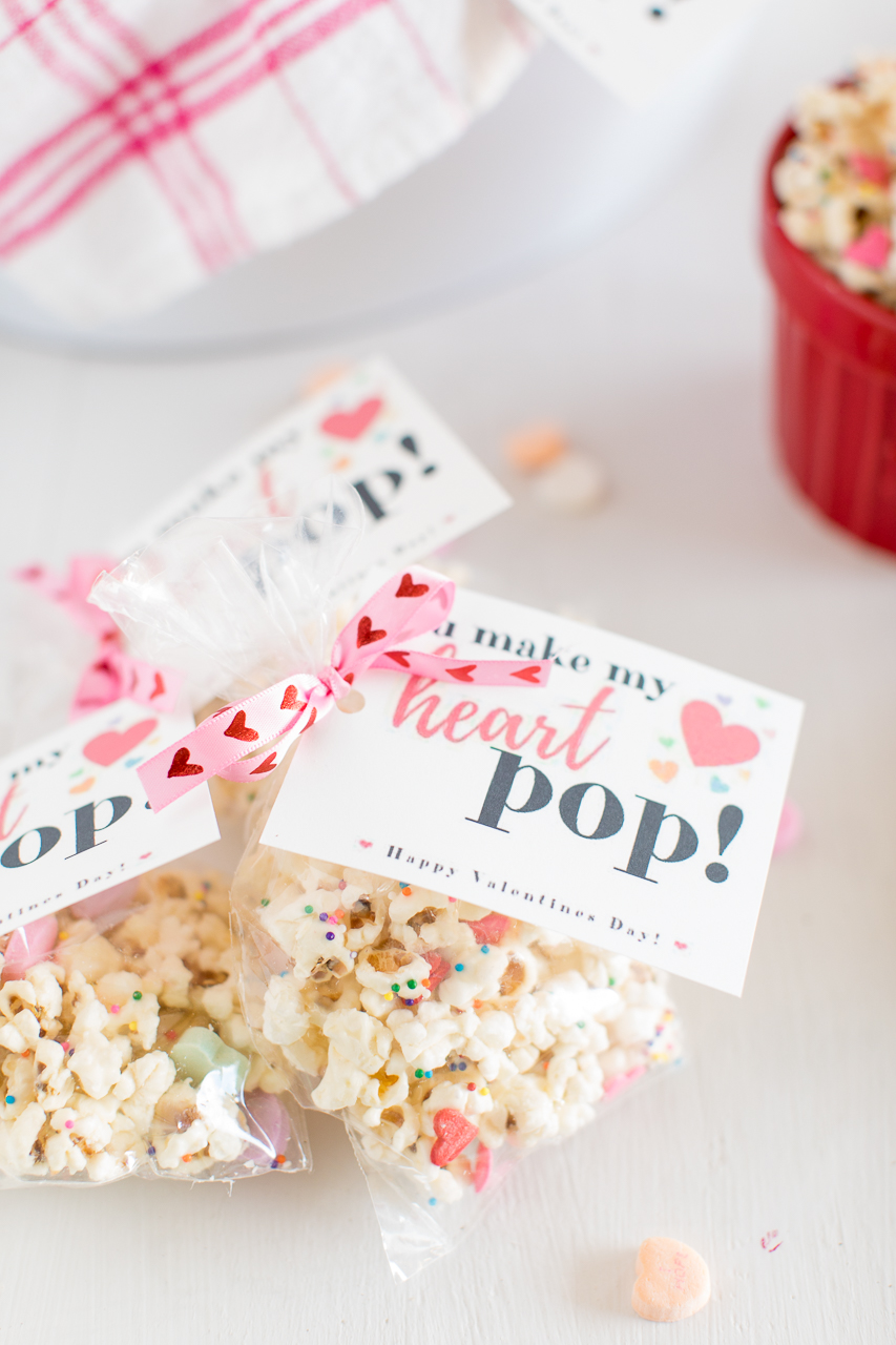Valentine's Day White Chocolate Party Popcorn Printable