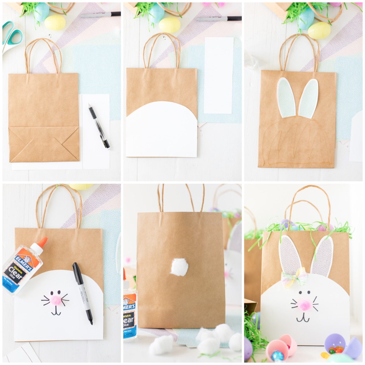 How to make Easter Bunny Paper Bags