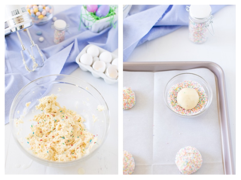 funfetti cookies process