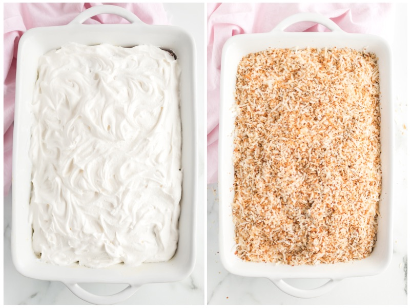 Cool Whip and Coconut Topping