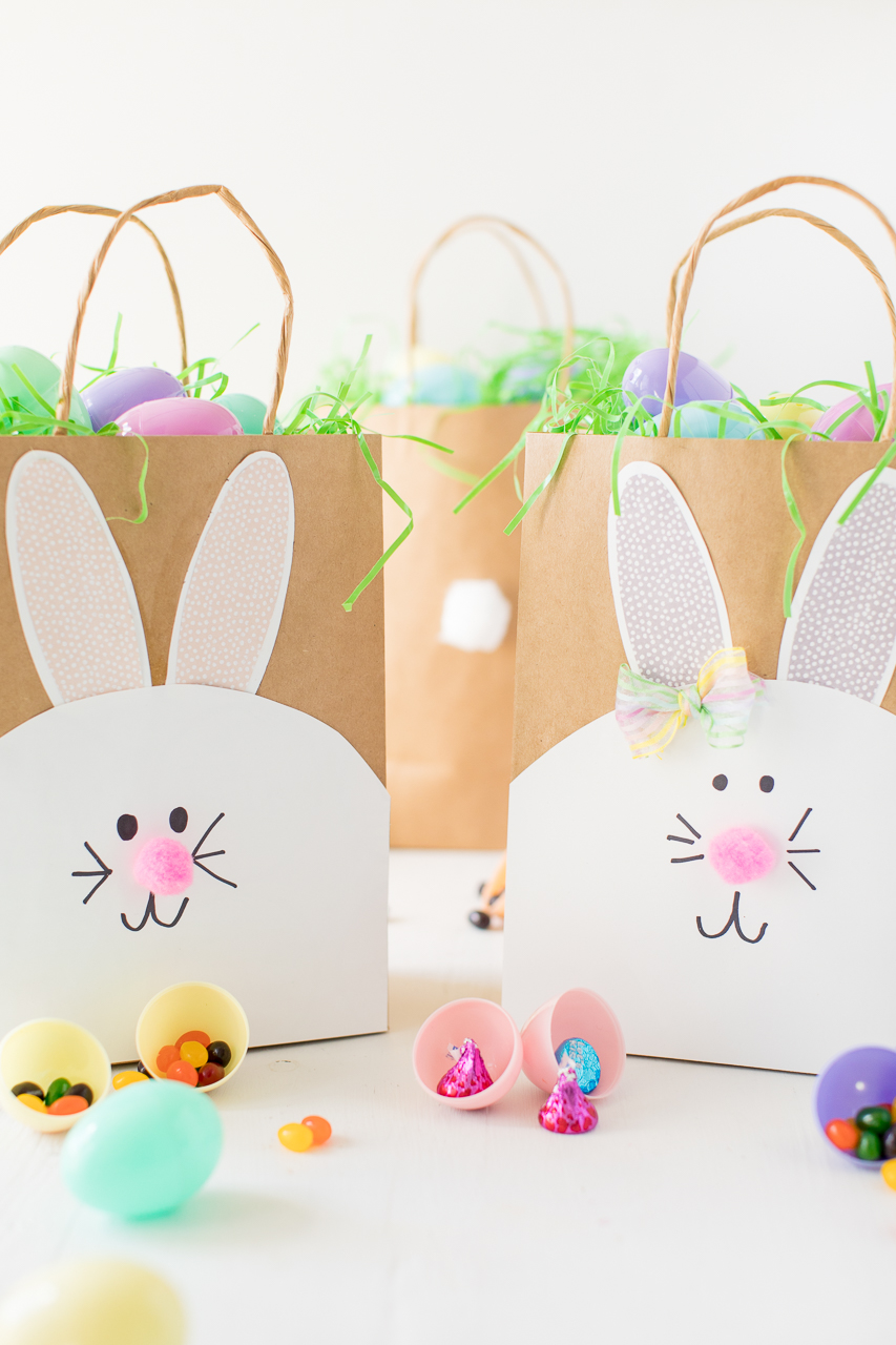 Easter Bunny Paper Bags candy filled eggs