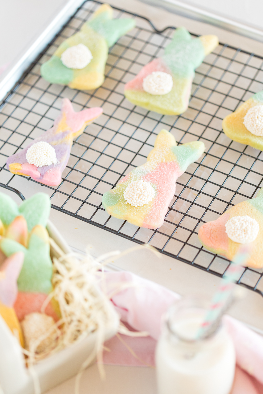 Marbled Easter Bunny Cut Out Cookies