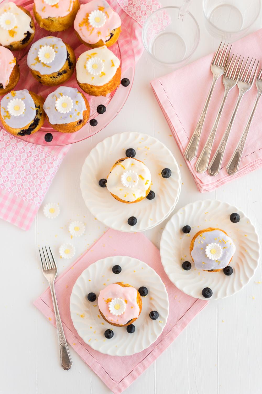 Mini Lemon Blueberry Muffin Cakes