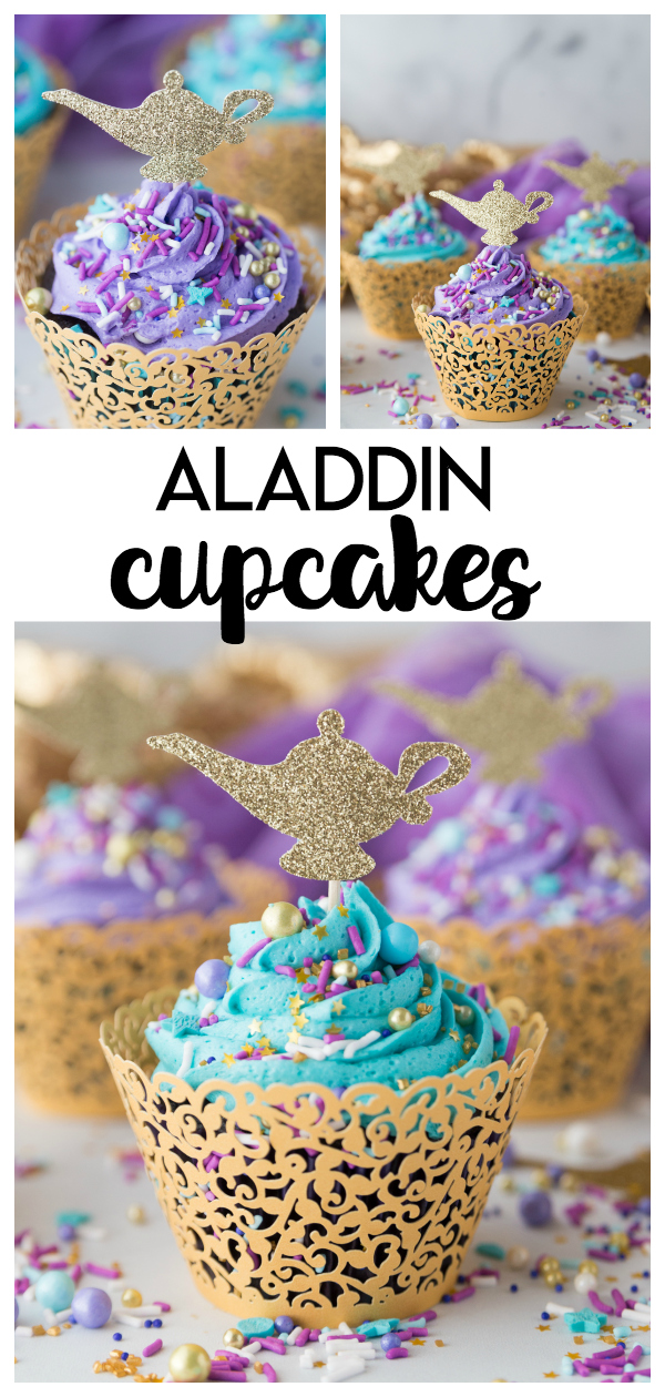 DIY Aladdin Cupcakes: a fun and simple diy chocolate cupcake craft perfect to celebrate any Princess Jasmine or Aladdin party!