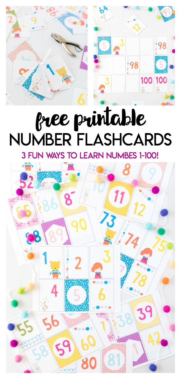 These Printable Number Flashcards are perfect for kids of all ages! These number flashcards go from 1-100 and can be used as flashcards, a matching game, or as the classic game of Go Fish!