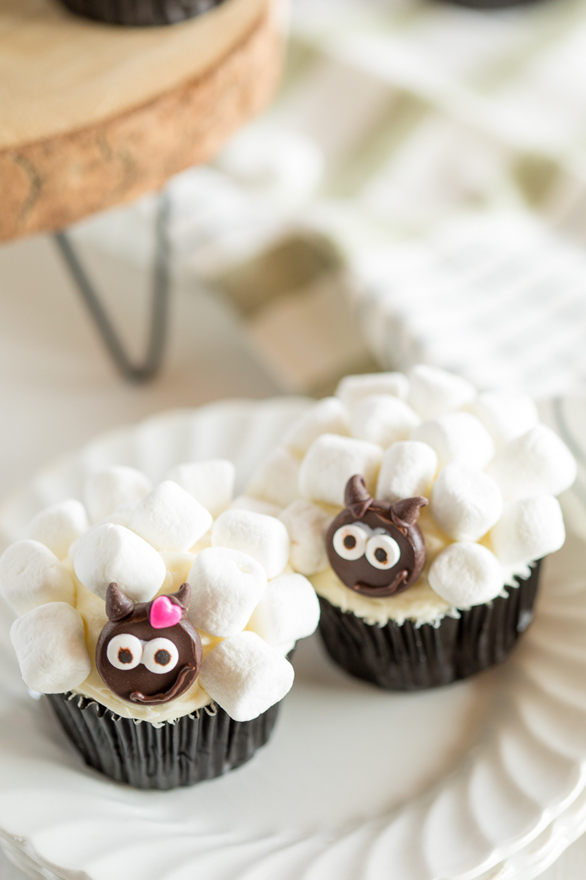 marshmallow sheep cupcakes girl version and boy version