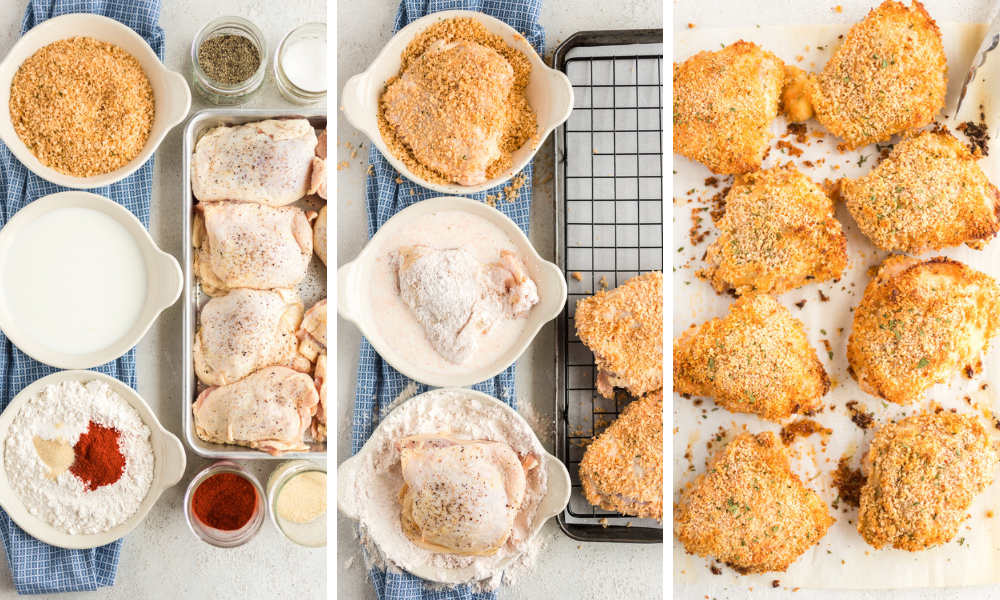 How to make Panko Oven Fried Chicken