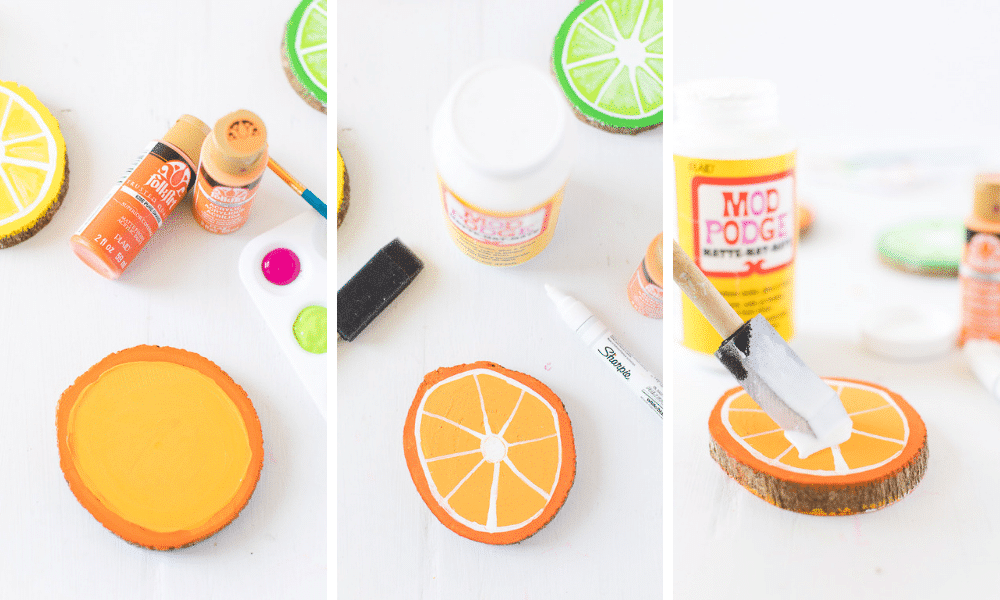 how to make wooden citrus coasters