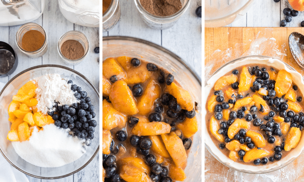 Peach Blueberry Pie Filling- Simple ingredients