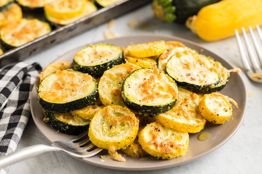 Zucchini and Squash on Dinner Plate