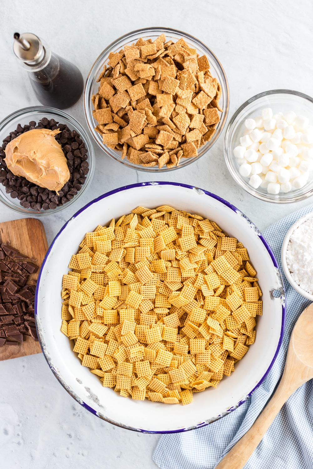 S'mores Puppy Chow Ingredients